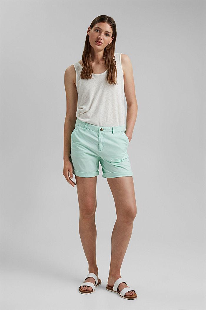 Chino-Shorts aus Organic Cotton, PASTEL GREEN, detail image number 1