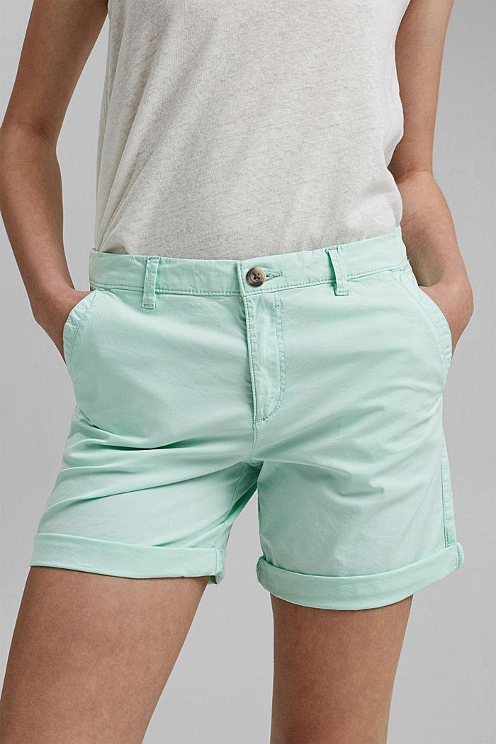 Chino-Shorts aus Organic Cotton, PASTEL GREEN, detail image number 2