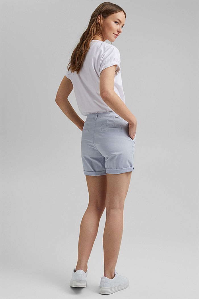 Chino shorts made of organic cotton, LIGHT BLUE LAVENDER, detail image number 3