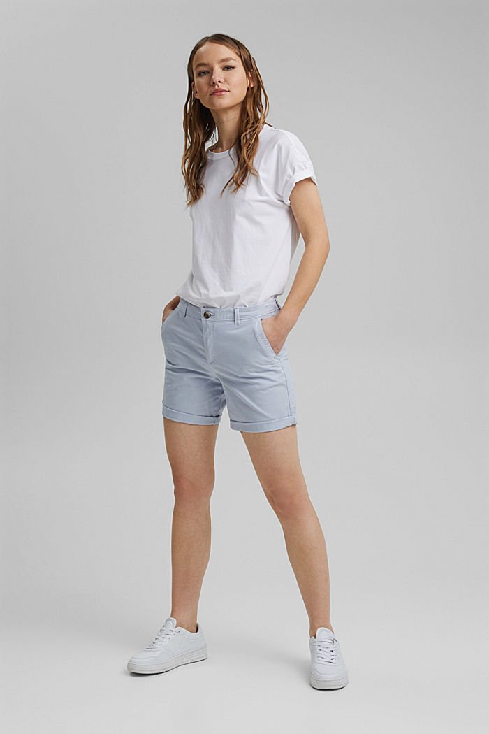 Chino shorts made of organic cotton, LIGHT BLUE LAVENDER, detail image number 1