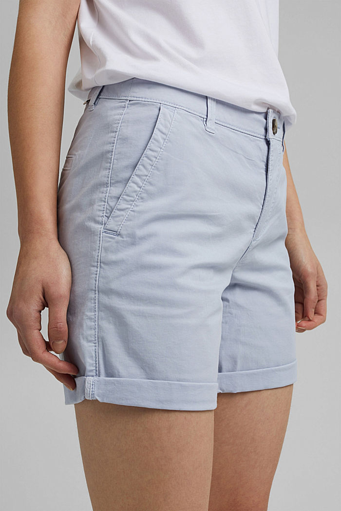 Chino shorts made of organic cotton, LIGHT BLUE LAVENDER, detail image number 2