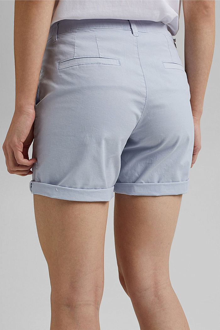 Chino shorts made of organic cotton, LIGHT BLUE LAVENDER, detail image number 5