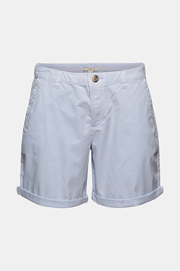 Chino shorts made of organic cotton, LIGHT BLUE LAVENDER, detail image number 6