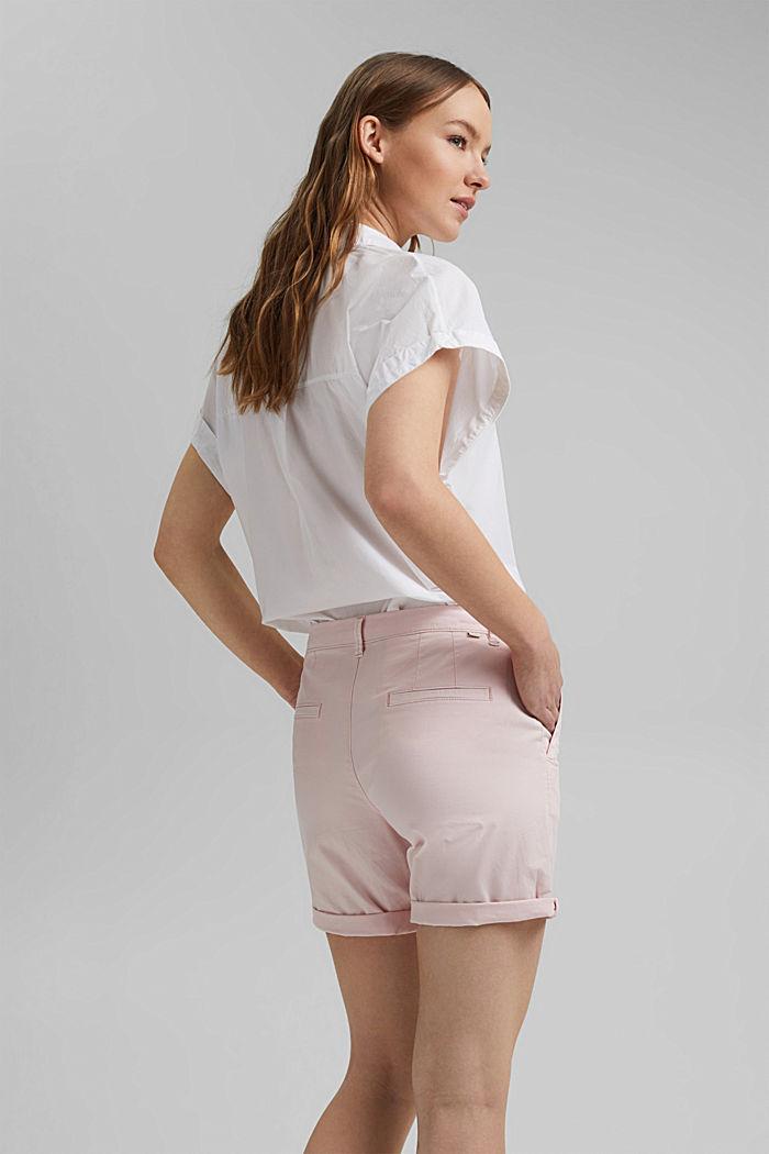 Chino shorts made of organic cotton, LIGHT PINK, detail image number 3