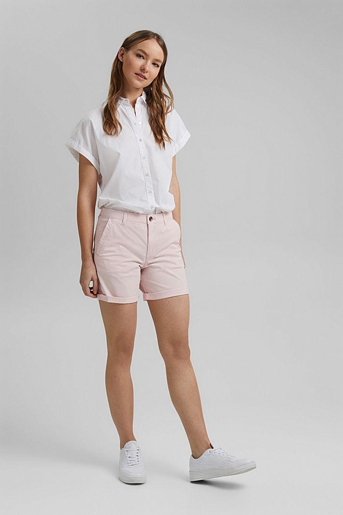 Chino-Shorts aus Organic Cotton, LIGHT PINK, detail image number 1