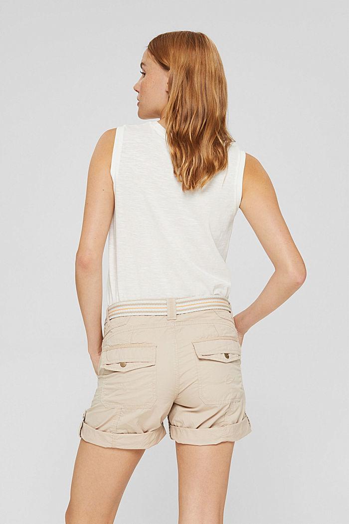Short PLAY à ceinture, 100% coton, BEIGE, detail image number 3