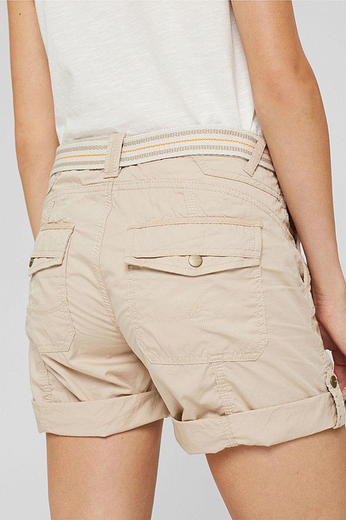 Short PLAY à ceinture, 100% coton, BEIGE, detail image number 5