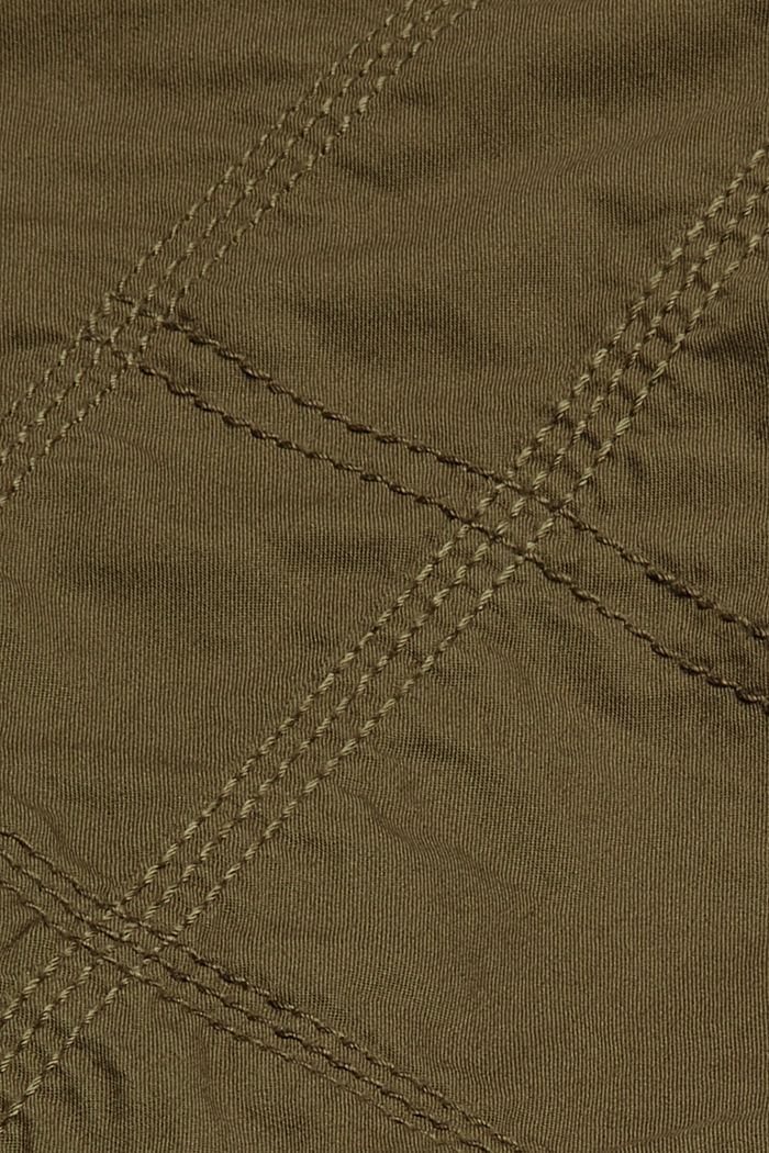 PLAY short met ceintuur, 100% katoen, KHAKI GREEN, detail image number 4