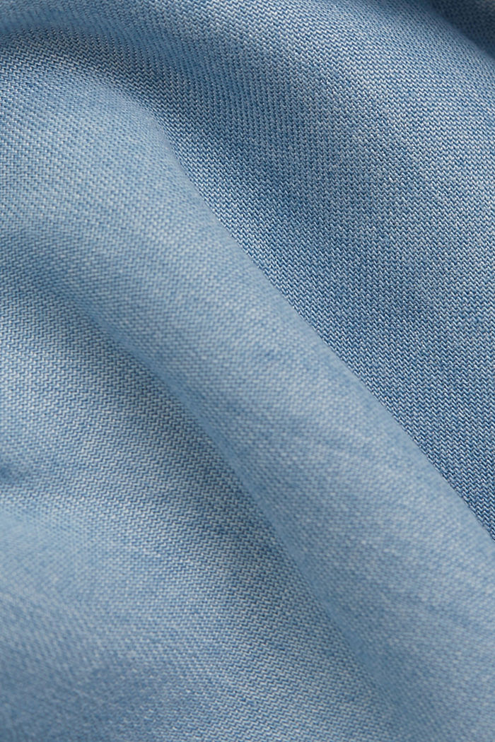 Aus TENCEL™: Midi-Rock in Jeans-Optik, BLUE LIGHT WASHED, detail image number 4