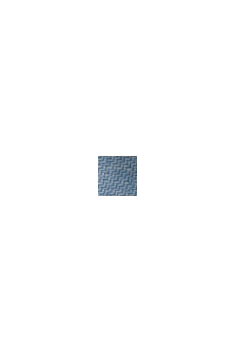 Aus TENCEL™: Midi-Rock in Jeans-Optik, BLUE LIGHT WASHED, swatch