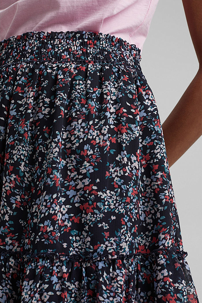 Recycled: Chiffon mini skirt, NEW NAVY, detail image number 2