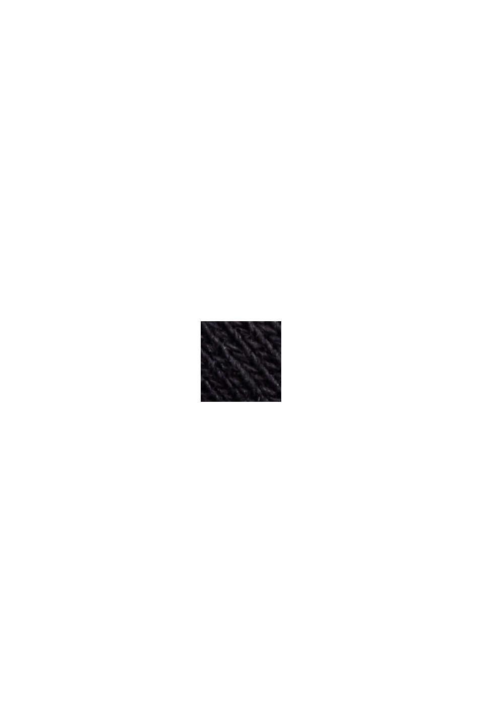 Falda de felpa en algodón ecológico 100 %, BLACK, swatch