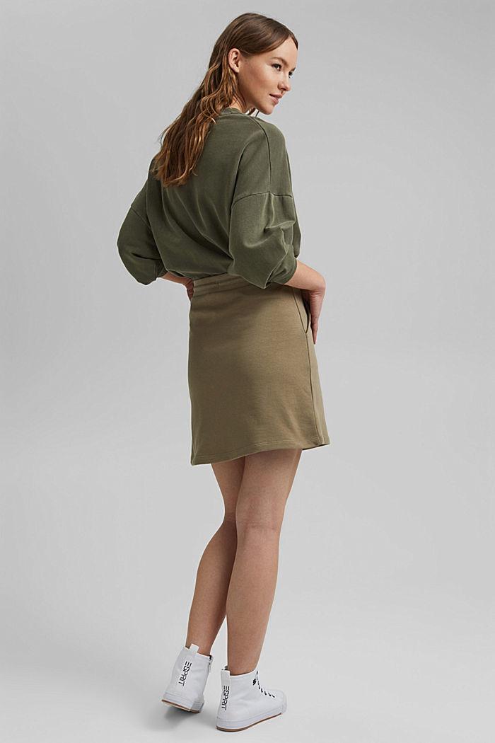 Sweatshirt skirt in 100% organic cotton, LIGHT KHAKI, detail image number 3