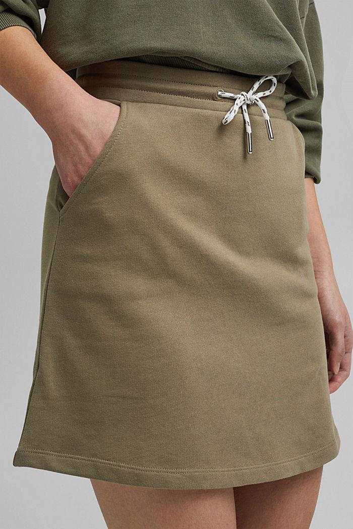 Sweatshirt skirt in 100% organic cotton, LIGHT KHAKI, detail image number 2