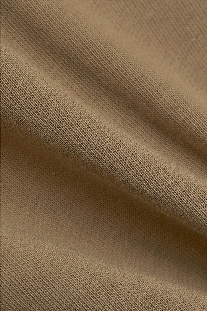 Sweatshirt skirt in 100% organic cotton, LIGHT KHAKI, detail image number 4