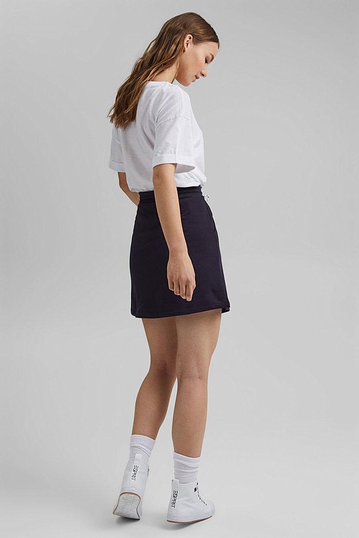 Sweatshirt skirt in 100% organic cotton, NAVY, detail image number 3