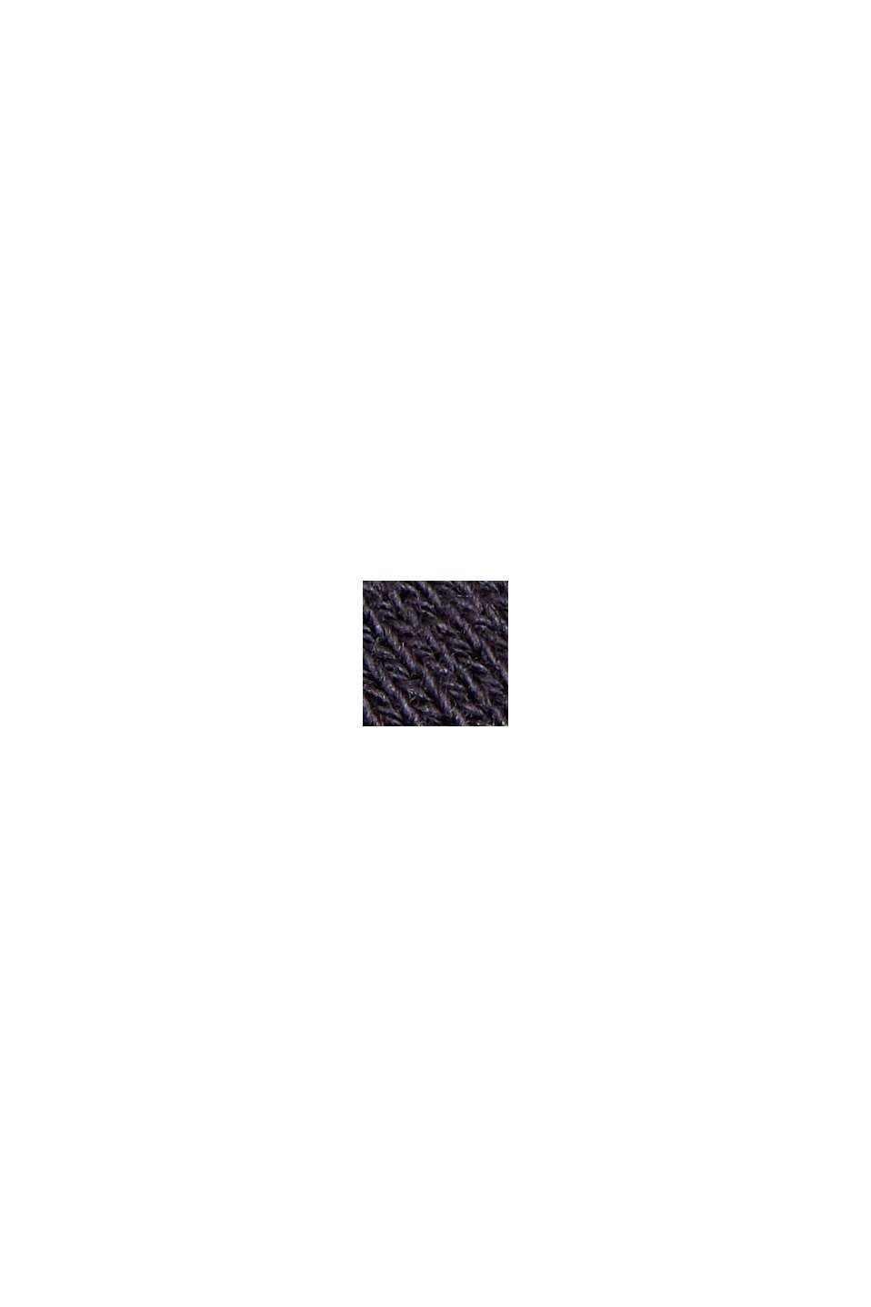 Falda de felpa en algodón ecológico 100 %, NAVY, swatch