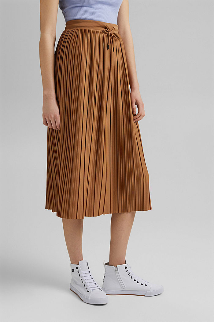 Recycled: pleated jersey skirt