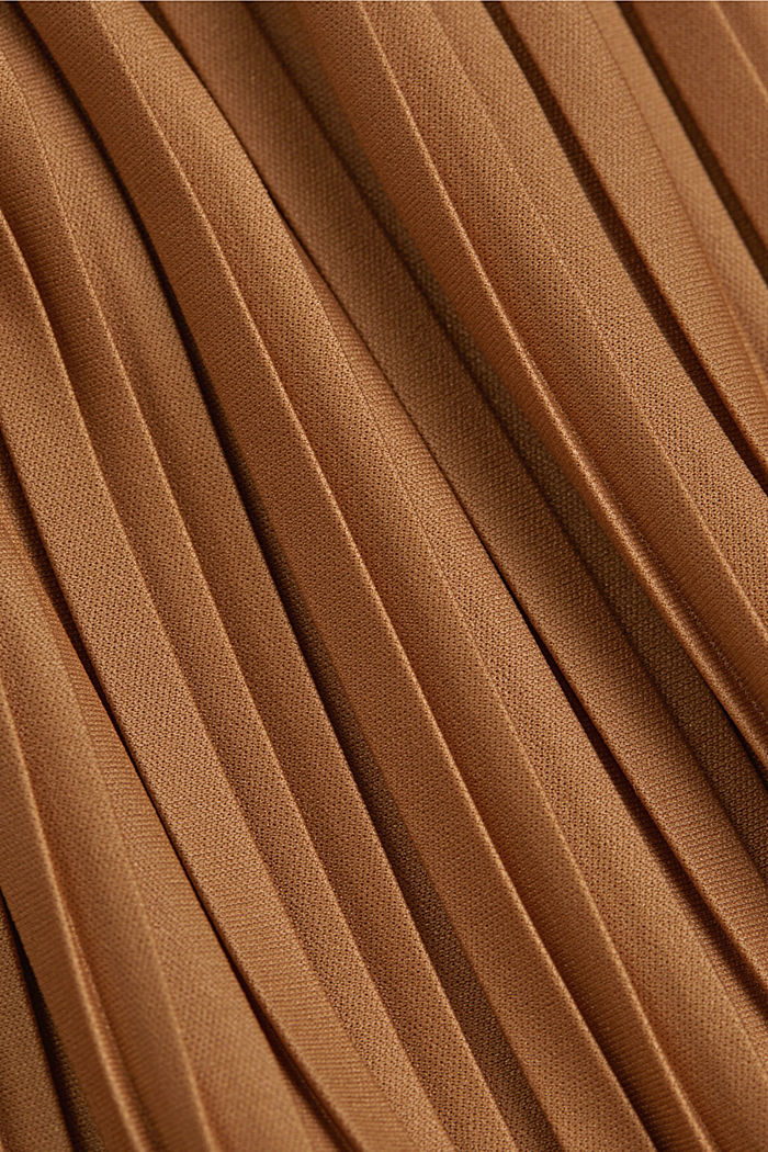 Recycled: pleated jersey skirt, CARAMEL, detail image number 4