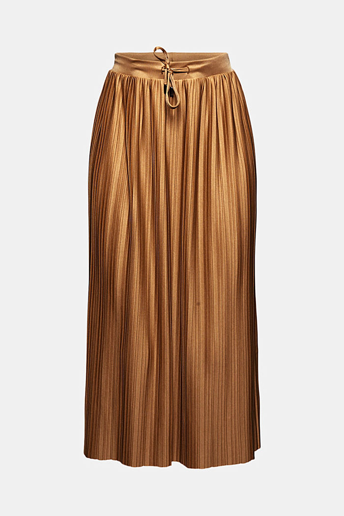 Recycled: pleated jersey skirt, CARAMEL, detail image number 7