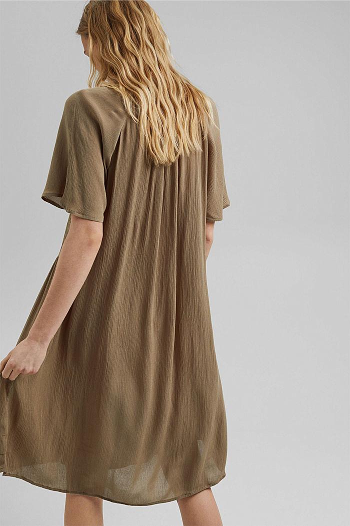 Blusen-Kleid mit Smok, LENZING™ ECOVERO™, LIGHT KHAKI, detail image number 2