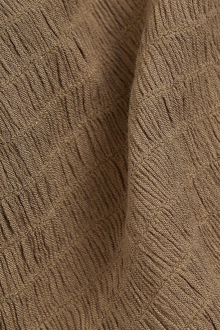 Blusen-Kleid mit Smok, LENZING™ ECOVERO™, LIGHT KHAKI, detail image number 4