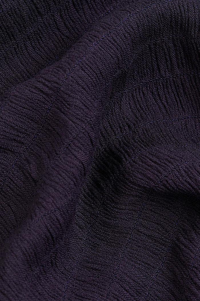 Smocked shirt dress, LENZING™ ECOVERO™, NAVY, detail image number 4