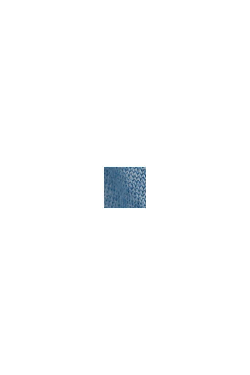 Av TENCEL™: denimklänning med volanger, BLUE LIGHT WASHED, swatch