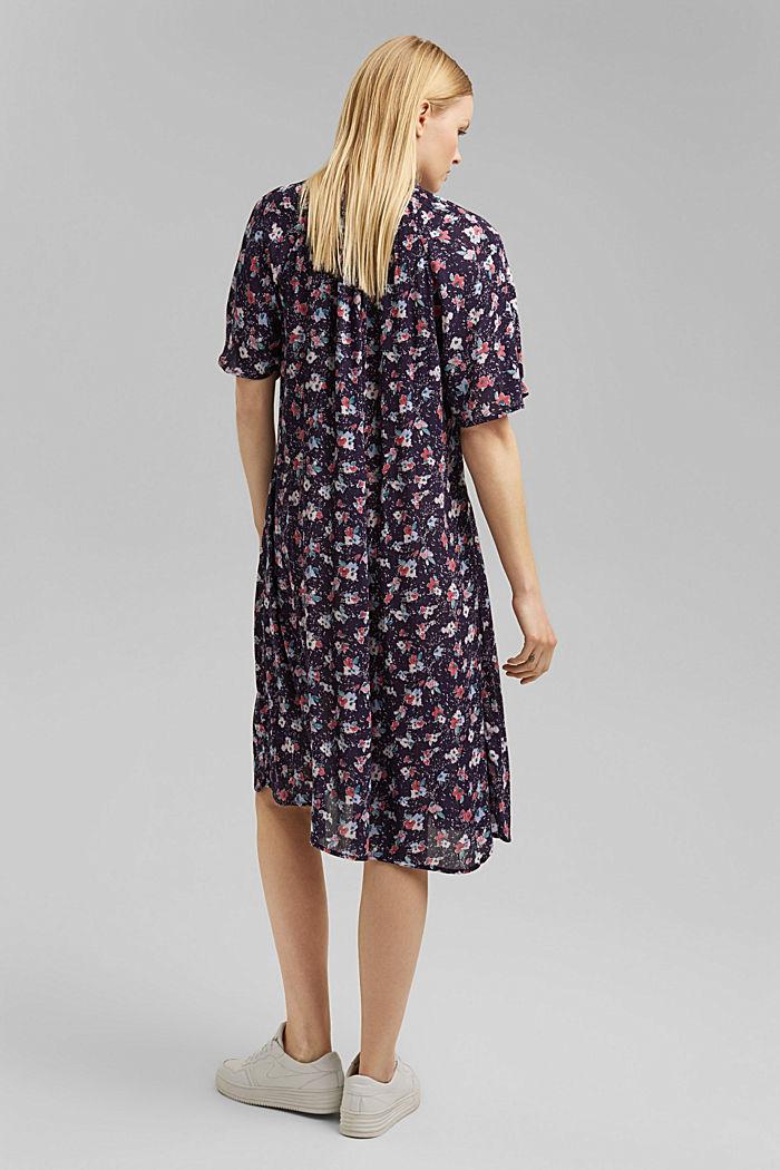 Blusen-Kleid mit Smok, LENZING™ ECOVERO™, NAVY, detail image number 2