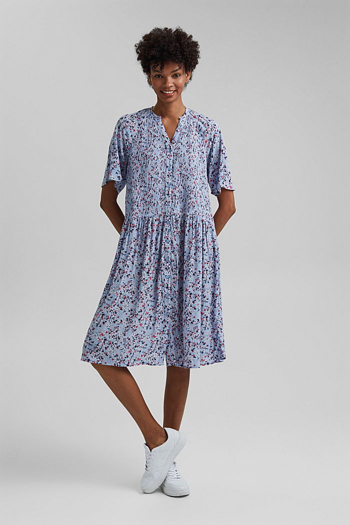 Smocked shirt dress, LENZING™ ECOVERO™