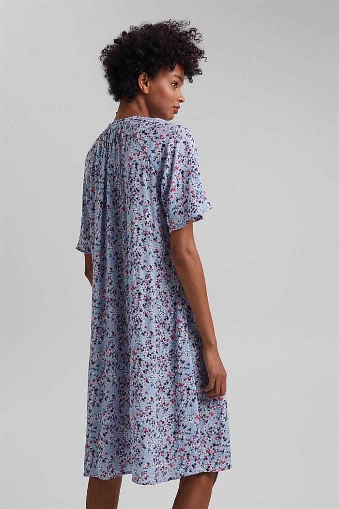 Blusen-Kleid mit Smok, LENZING™ ECOVERO™, LIGHT BLUE LAVENDER, detail image number 2