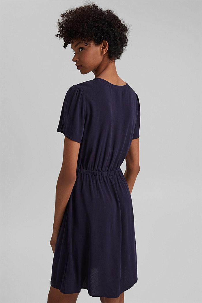 Printed shirt dress, LENZING™ ECOVERO™, NAVY, detail image number 2
