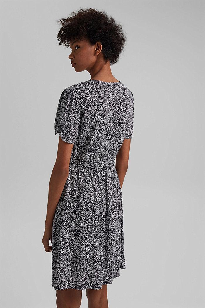 Gemustertes Kleid aus LENZING™ ECOVERO™, NAVY, detail image number 2