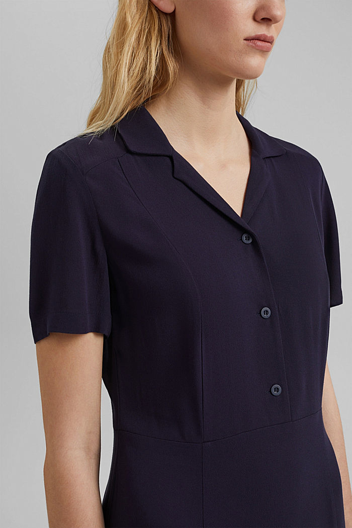Shirt dress made of LENZING™ ECOVERO™, NAVY, detail image number 3