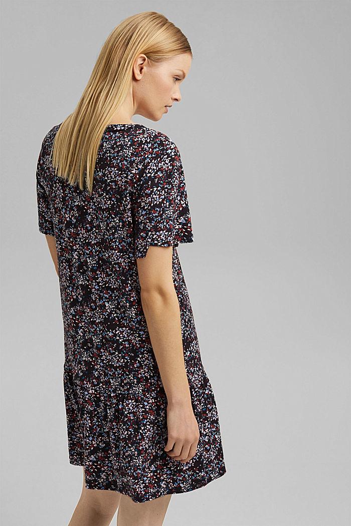 LENZING™ ECOVERO™: Crêpe jersey dress, NAVY, detail image number 1