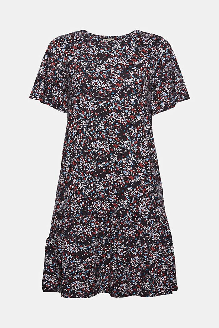 LENZING™ ECOVERO™: Crêpe jersey dress, NAVY, detail image number 4
