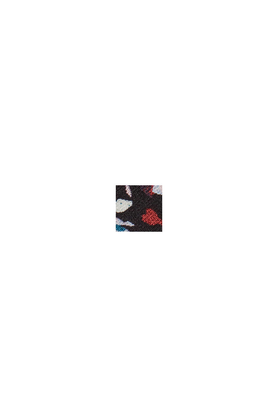 LENZING™ ECOVERO™: Crepekjole af jersey, NAVY, swatch