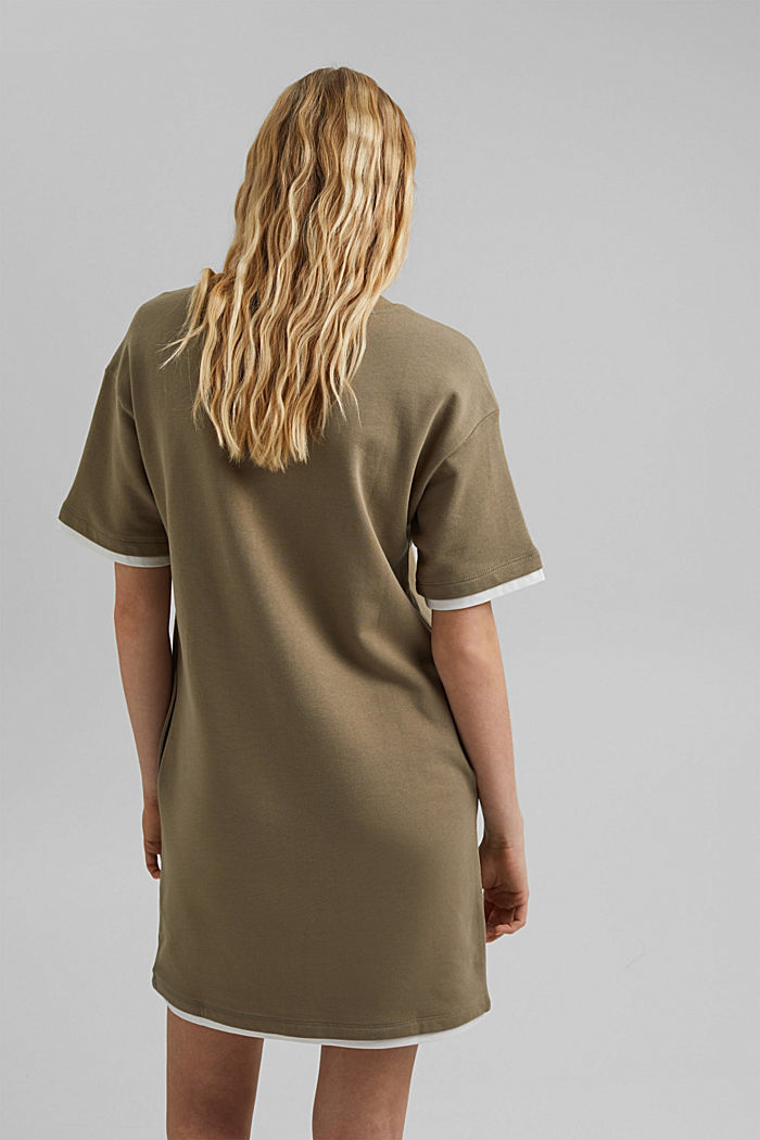 Sweatshirt dress made of organic cotton, LIGHT KHAKI, detail image number 2
