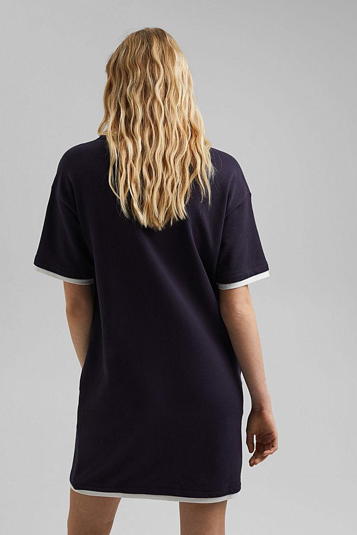 Sweatshirt dress made of organic cotton, NAVY, detail image number 2