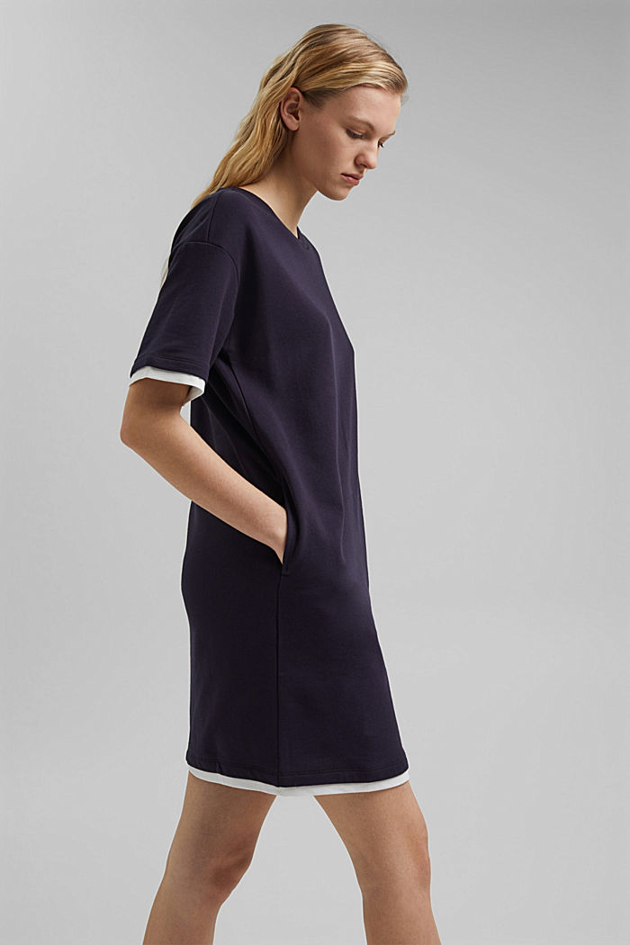 Sweatshirt dress made of organic cotton, NAVY, detail image number 5
