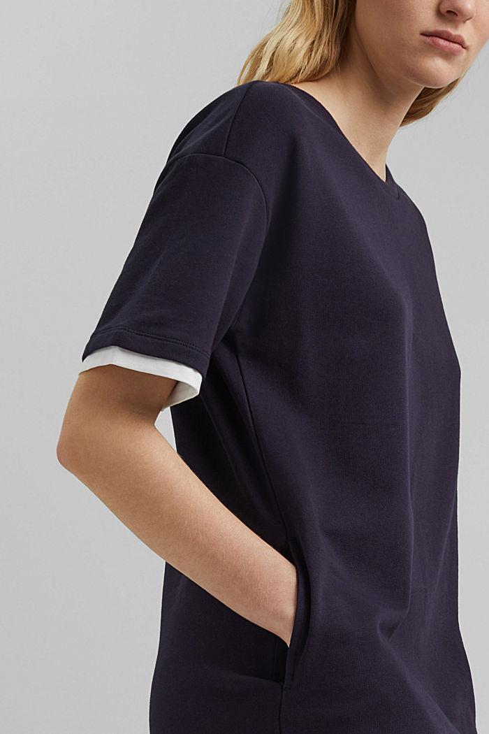 Sweatshirt-Kleid aus Organic Cotton, NAVY, detail image number 3