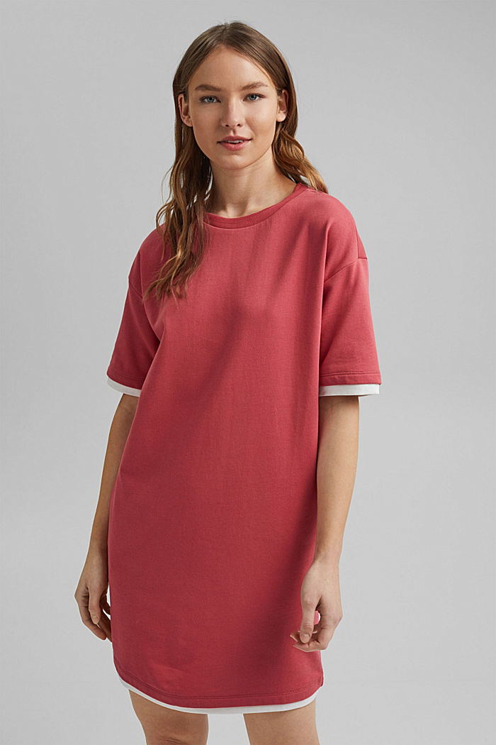 Sweatshirt-Kleid aus Organic Cotton, BLUSH, overview