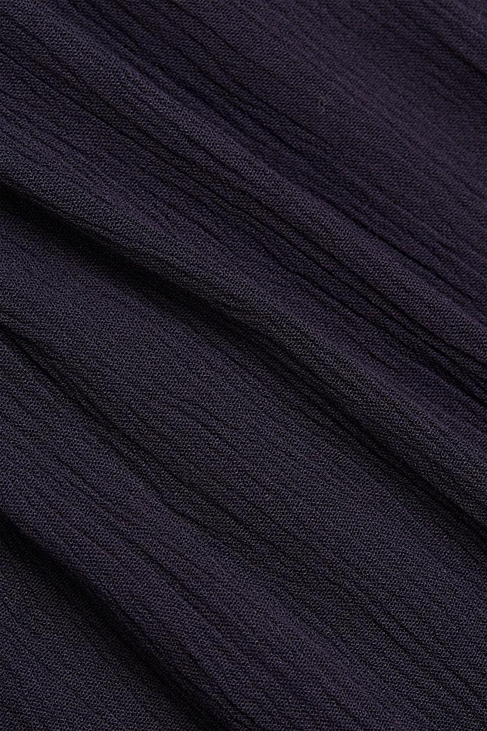 Smocked peplum blouse, LENZING™ ECOVERO™, NAVY, detail image number 4