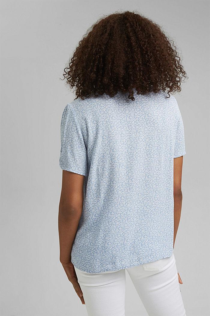 Blouse top made of LENZING™ ECOVERO™, LIGHT BLUE LAVENDER, detail image number 3