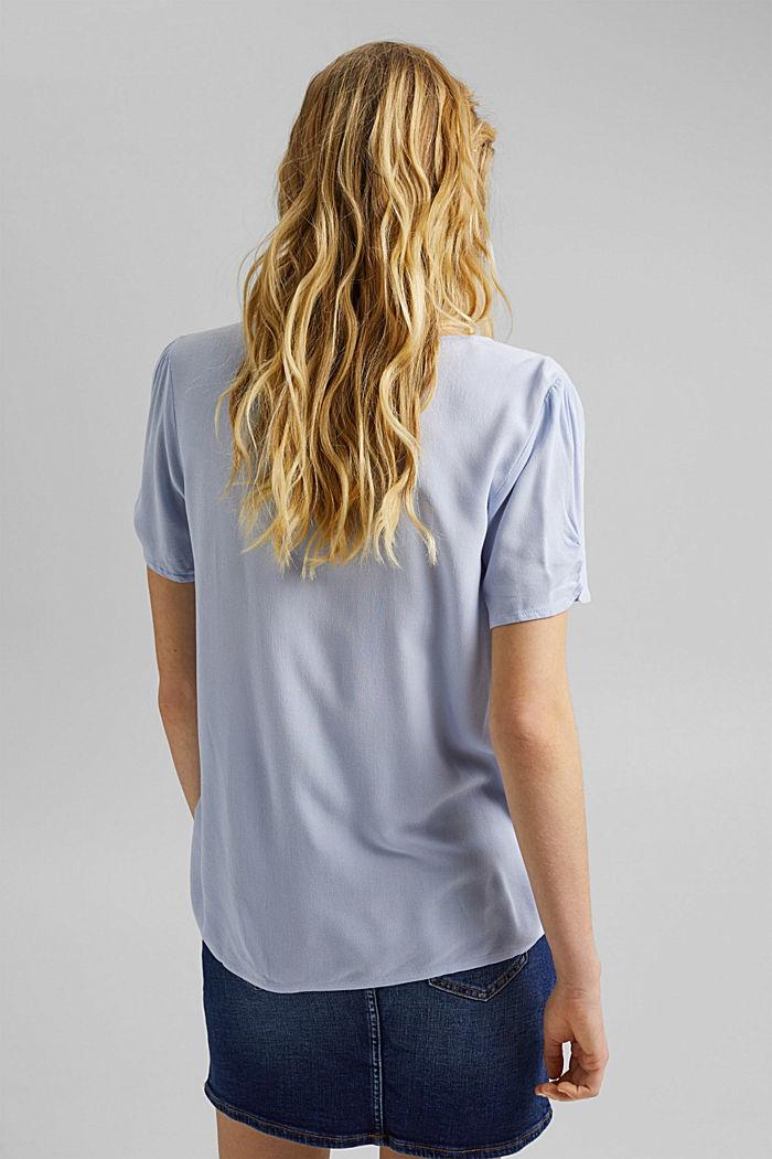 Haut façon blouse en LENZING™ ECOVERO™, LIGHT BLUE LAVENDER, detail image number 3