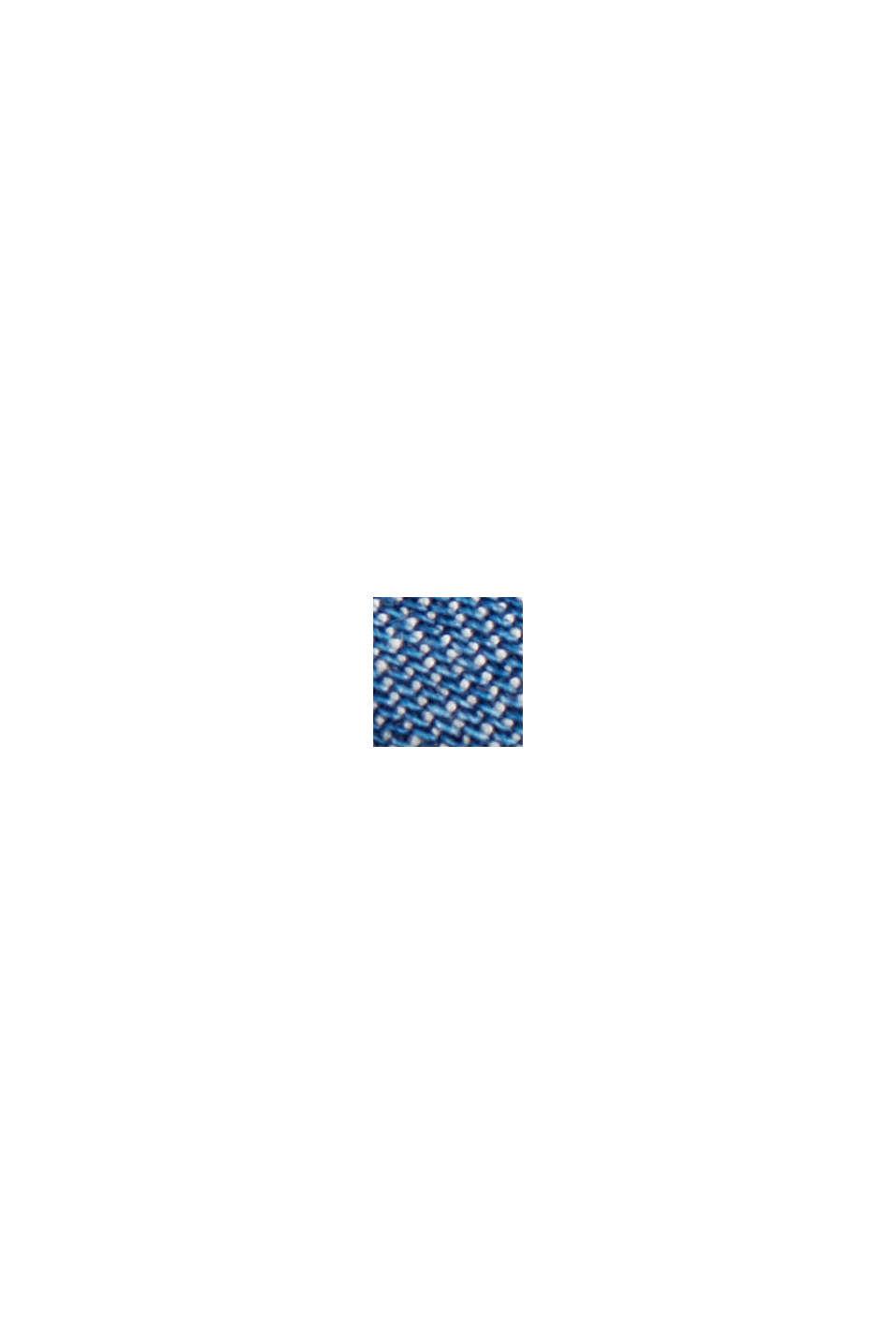 Van TENCEL™: denim blouse met ruches, BLUE MEDIUM WASHED, swatch