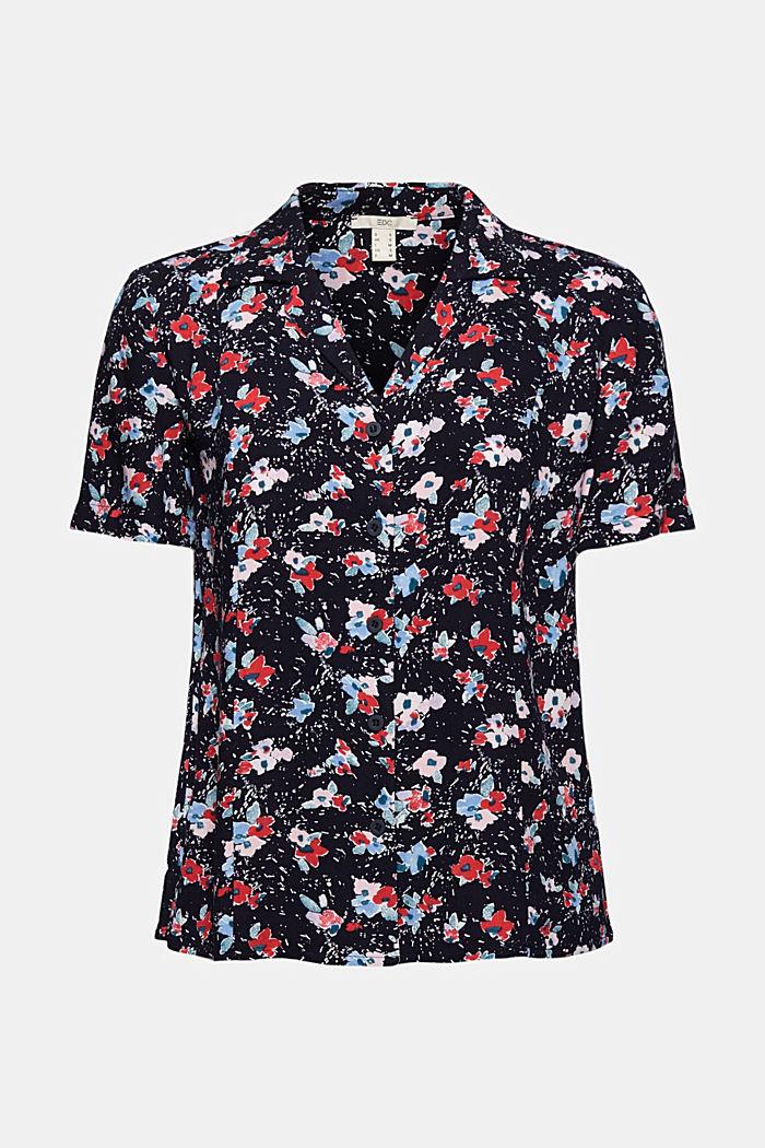 Pyjama-Bluse aus LENZING™ ECOVERO™, NAVY, detail image number 5