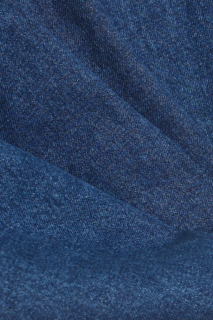 Denim overshirt made of blended organic cotton, BLUE MEDIUM WASHED, detail image number 4