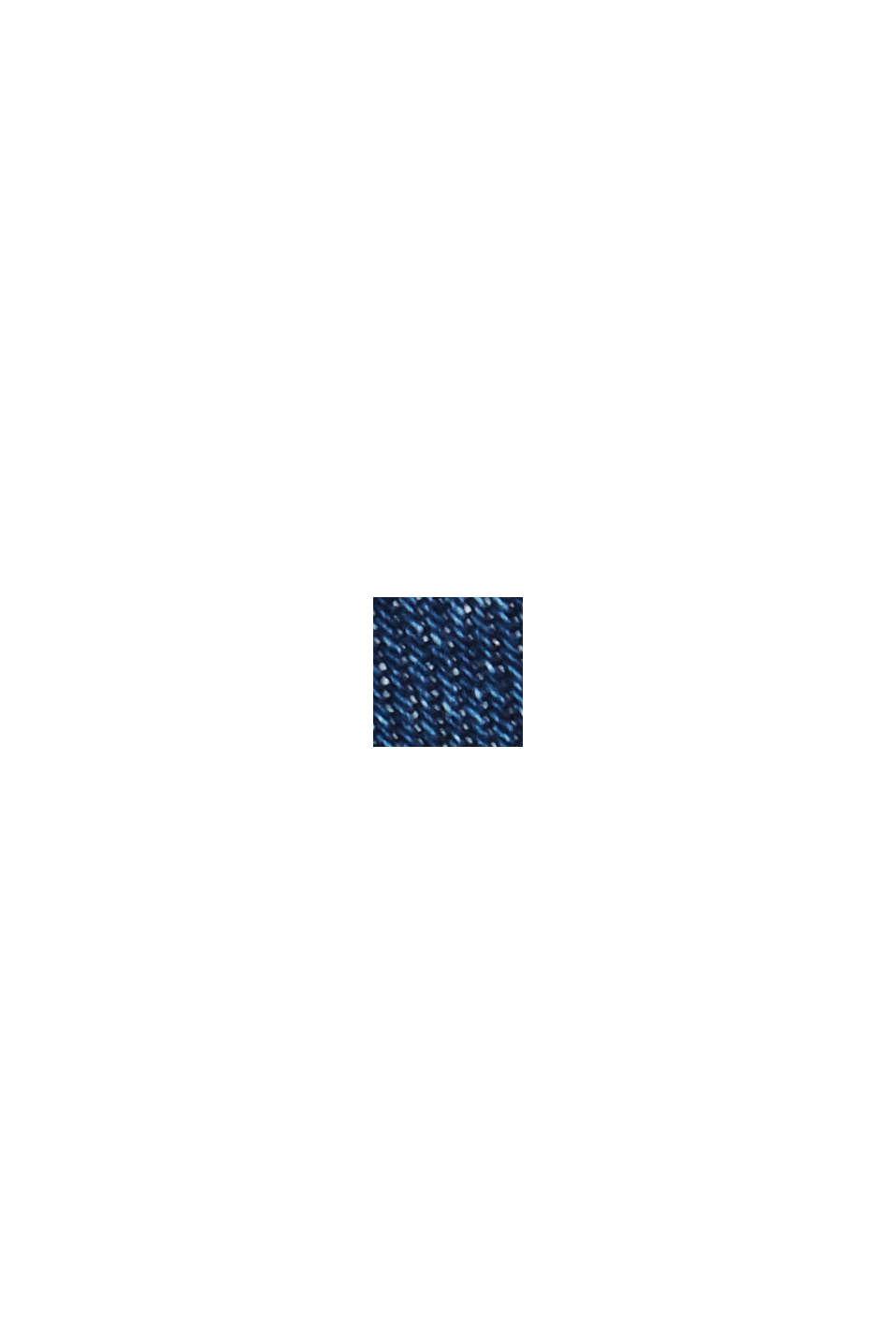 Dżinsowy overshirt z mieszanki z bawełną ekologiczną, BLUE MEDIUM WASHED, swatch