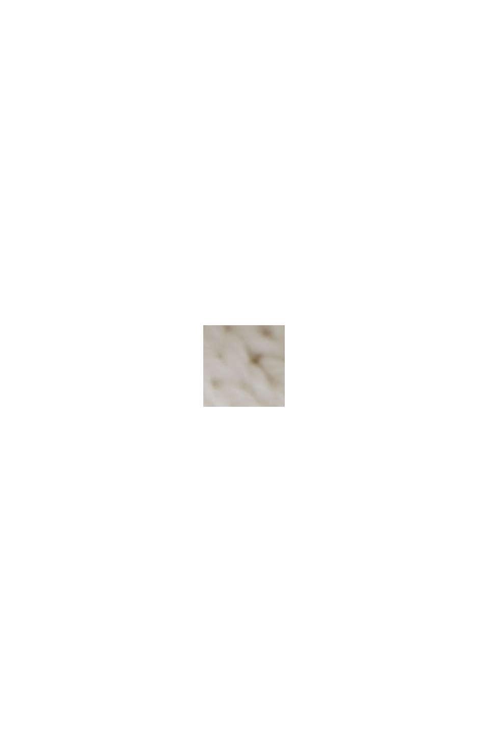 Linen/organic cotton: V-neck jumper, OFF WHITE, swatch